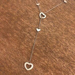 Tiffany & Co. Jewelry - Tiffany & Co. Retired Silver Heart Lariat Necklace